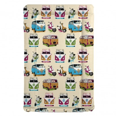 VW Campervans & Scooters themed baby changing mat