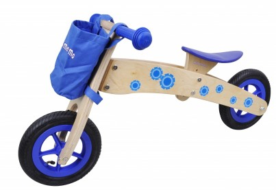 3 in 1 Wooden Trike / Balance Bike - Blue