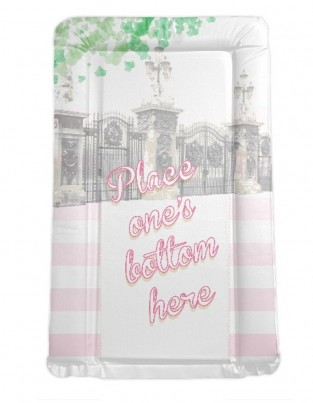 Royal Baby themed changing mat - Place One's Bottom Here - PINK / GIRL'S