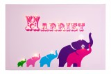 Personalised Elephants Illuminated Canvas Night Light