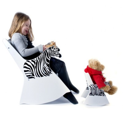 Ziggy the Zebra Rocking Chair & Doll sized Ziggy the Zebra