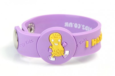 """I Have A Peanut"" Allergy Awareness wristband"