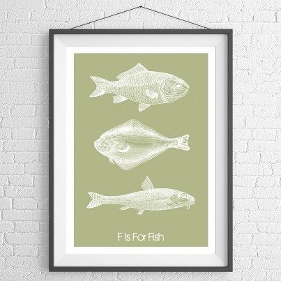 Fish Trio Green