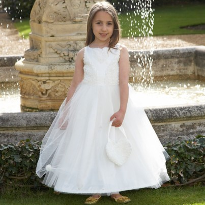 Ivory Floral Ballgown Costume
