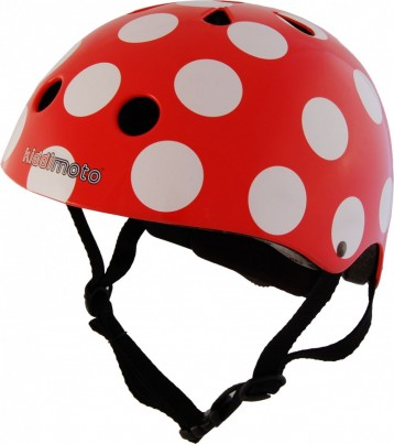 Red Dotty Helmet in Medium (53-58cms - Age 4-Adult)