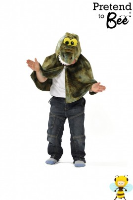 Quick and Easy Dressing Up  Never smile at a crocodile...  Velour cape and charater hood with velcro fastening.  Perfect for Peter Pan book day!