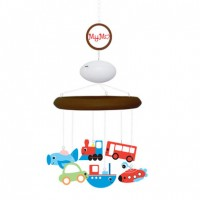 MyMo: Baby mobile with MP3 player and voice recorder (Dark wood with transport theme)
