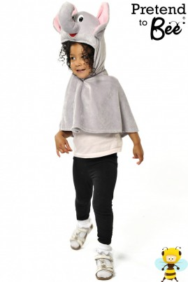 Quick and Easy Dressing Up  Off they went with a Trumpety Trump...  Velour cape and character hood with velcro fastening.