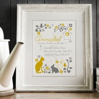 Folk Style Meaning of Name Print