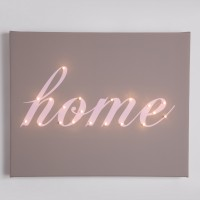 Home Illuminated Canvas Night Light