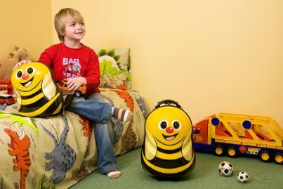 Cazbi the Bee Cutie hard Trolley Case and back pack set from the Cuties and Pals