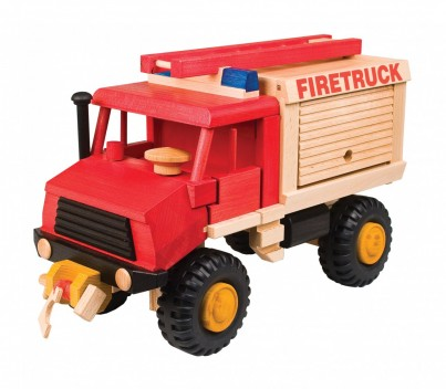 Wooden Fire Truck by Uniwood 1 of 2 part set