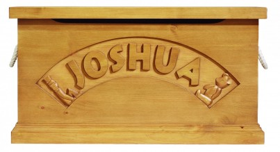 Hibba Classic Pine Personalised Traditional Toy Box