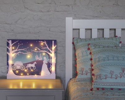 Cinderella Personalised Illuminated Canvas