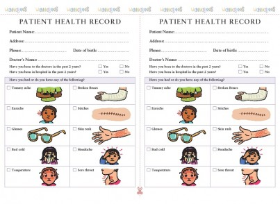 Doctor role play pack for pretend play includes Stickers, Eyesight Chart, End of Bed Notes etc
