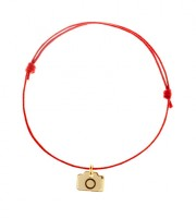 Gold Plated Lucky Charm Camera Bracelet