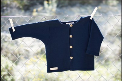 COTTON JACKET NAVY BLUE