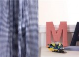Babyface Navy Gingham Curtains