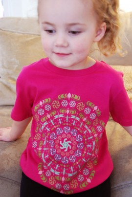 Sophia Rose our model is 3 years old and wears size 3-4 years old.