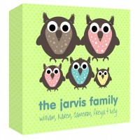 Owl Family Personalised Canvas