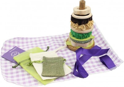 The Mini Pistachio Stacking Hoops with Sorting Bags, Activity Card and Collection Bag