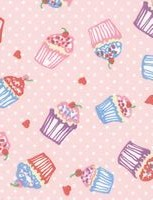 Multi Purpose Nursery & Feeding Cushion - CUPCAKES design in  PINK for a girl - ideal baby shower gift