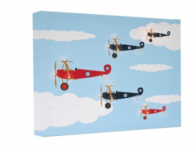 Bi-Planes Illuminated Canvas Night Light