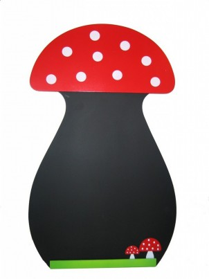 Childrens Wall Mountable Blackboard - Toadstool