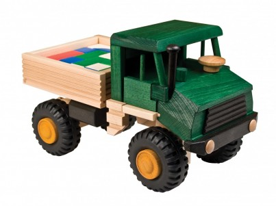 Wooden tipper truck with bricks 4 of 4 set(1)