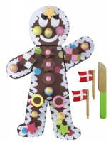 Extra Special Wooden Toy Chocolate Birthday Cake / Gingerbread Man
