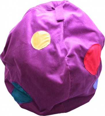 This high quality beanbag will appeal to children of all ages.  Made of thick cord, its gorgeous colour and texture provides comfort and focus to any quiet/storytelling area.