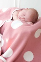 Everyday Essential Cotton Knitted Polka Dot Blankets