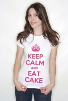 Keep Calm and Eat Cake Adult T Shirts Personalised If Required