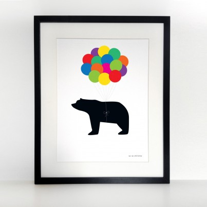 Up, up, and away A3 print