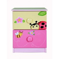Teamson Magic Garden 2 Drawer Bedside Cabinet