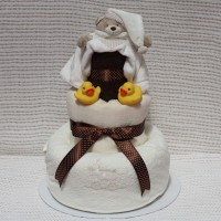 Luxury Bath & Bed Nappy Cake 3 Tier