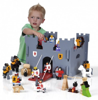 Wooden Medieval Castle & Figures by WagonWood
