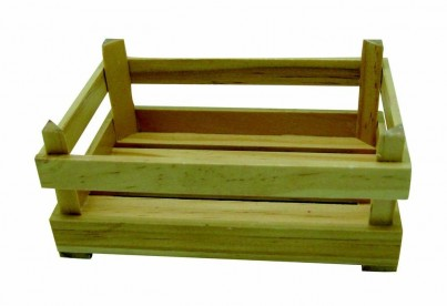 Wooden Market Stall Crates / Play Food Boxes (6 pieces)