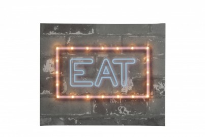 Neon Eat - Illuminated Canvas