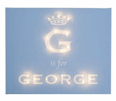 Royal Darling - Boys Crown Personalised Illuminated Canvas Night Light