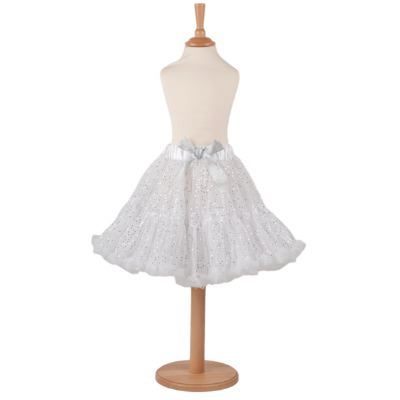 Frothy Tutu skirt Silver sequin