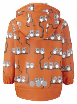 Koster Uggla Rain Jacket Unlined Orange Owls