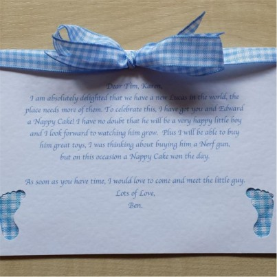 Baby Boy cupcake gift set - Super Deluxe in 0-3 or 3-6 months