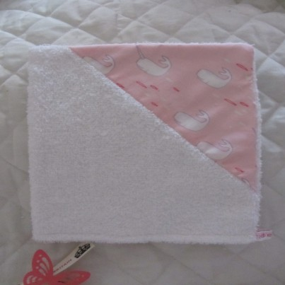 .Narwhal Games pink bandana bib, cloth and wash mit set for babies and toddlers by IndieBaby lovely gift