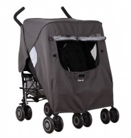 KEEP US DRY DOUBLE STROLLER RAIN COVER