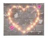 Graffiti Heart - Illuminated Canvas Night Light