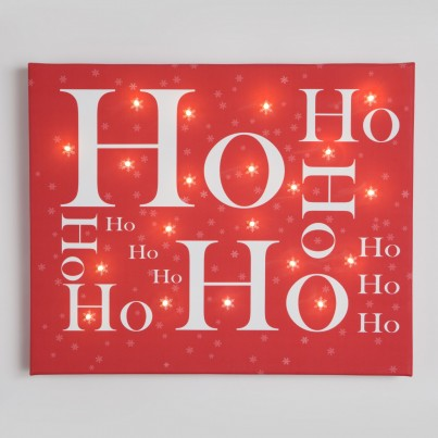 Ho ho ho Illuminated Canvas Night Light
