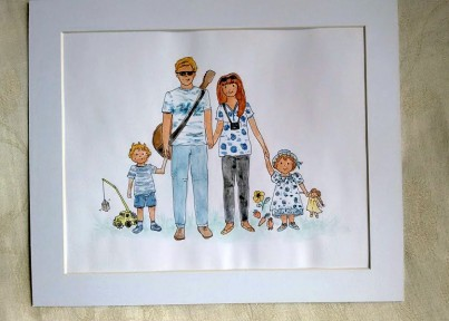 Personalised Family painting