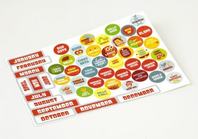 Over 50 stickers for your wall chart! Everything from due date to first birthday and everything in-between!