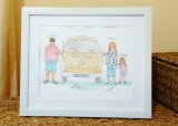 Personalised Family with Campervan